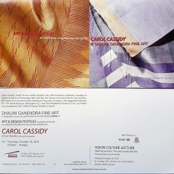 2010, Art and Design Textles by Carol Cassidy